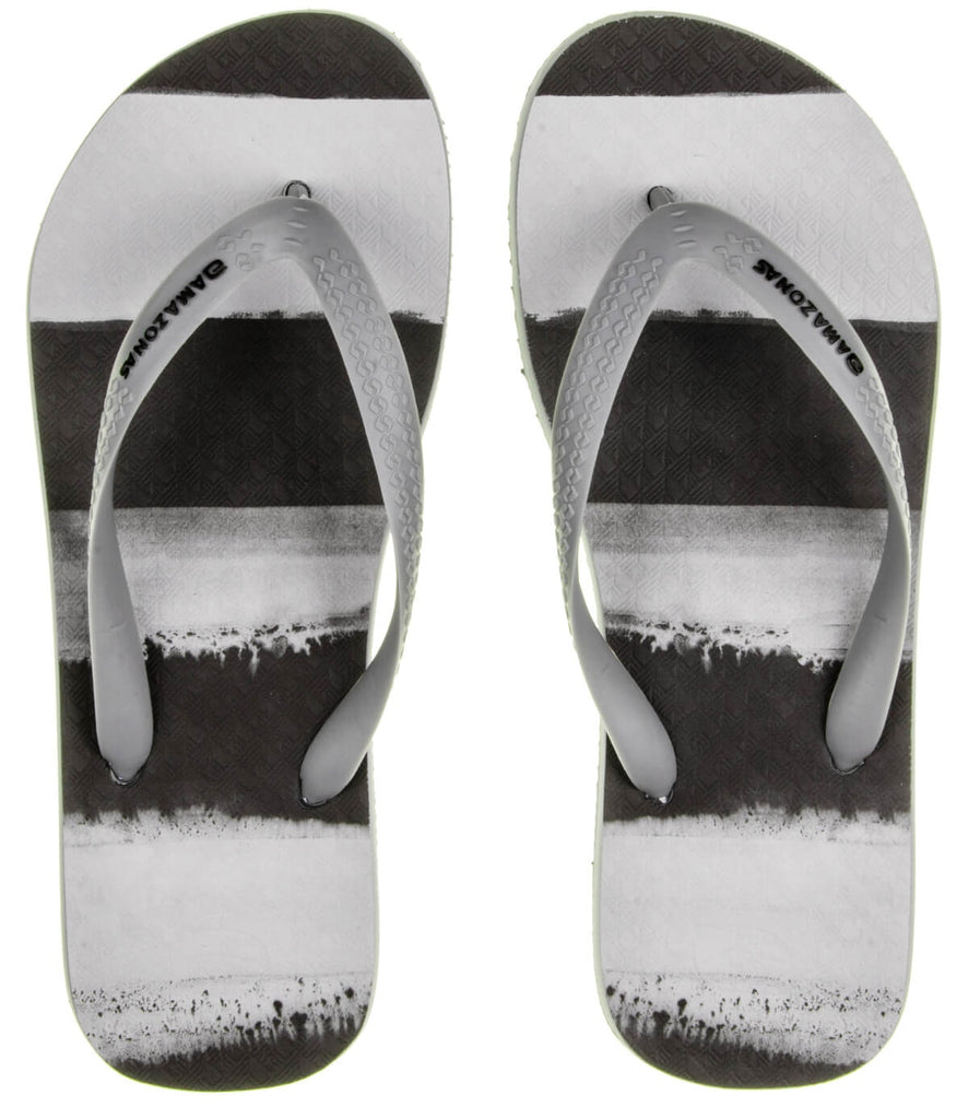 Black And Grey Enjoy Flip Flops