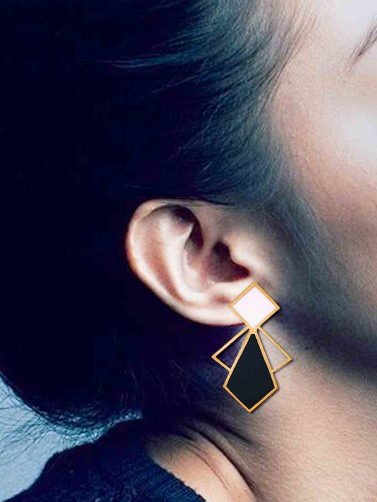 Black Profiles Noir Dangler Earrings