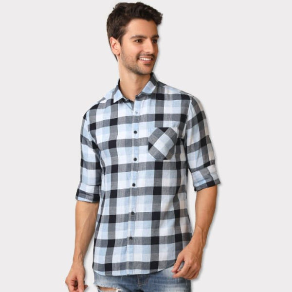 Block Checkered Casual Shirt