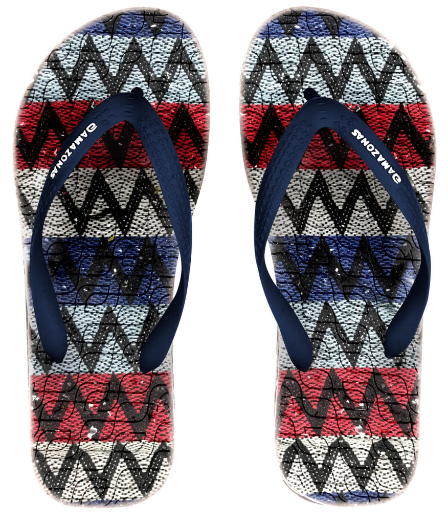 Blue And Multicolor Eco Fios Flip Flops