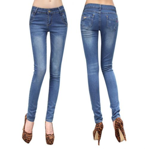 Blue Light Shade Slim Fit Women Jeans