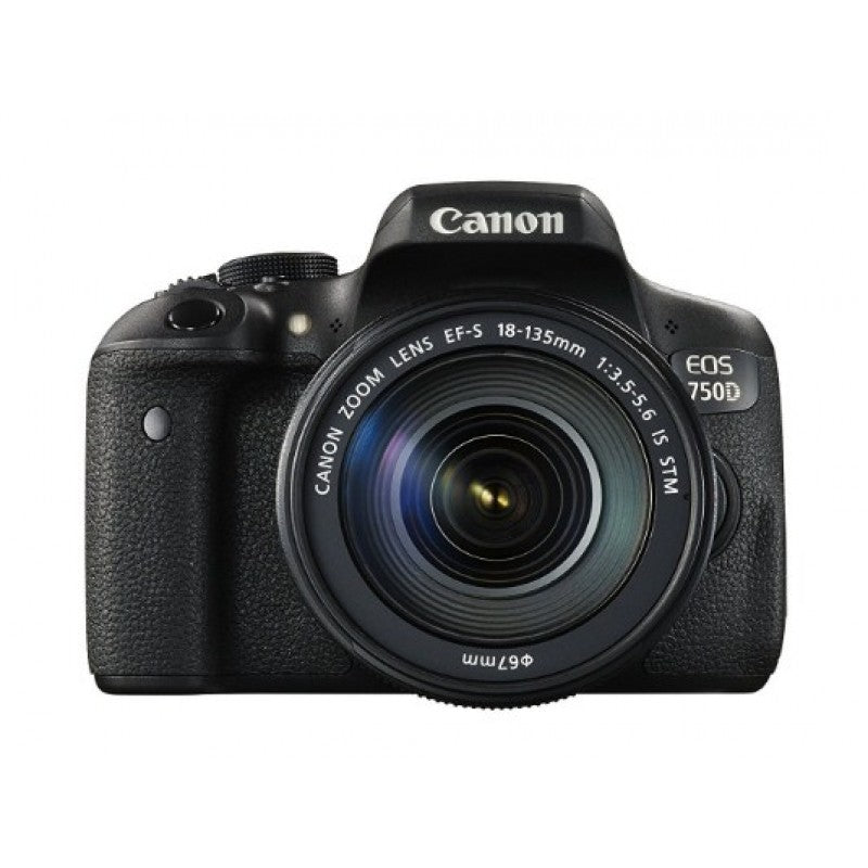 Canon EOS 750D DSLR Camera with 18-135 mm f-3.5-5.6 Lens -Black