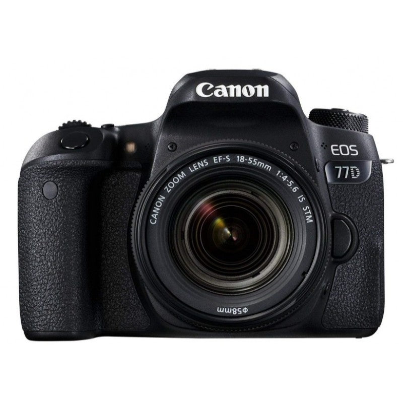 Canon EOS 77D 24.2MP DSLR Camera with EF-S 18-55mm F4-5.6 IS STM Lens