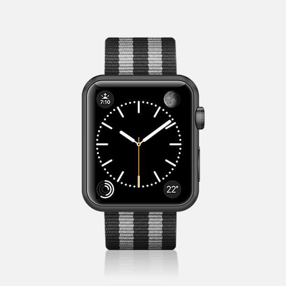 Casetify Apple Watch Band Nylon Fabric All Series 42/44mm - Black Stirpes