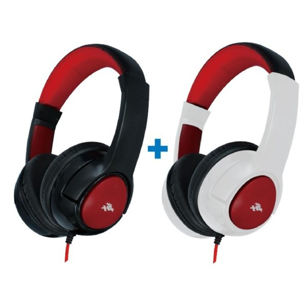 Eklasse EKWHP07BAI Wired Headphone White + EKWHP07BAI Wired Headphone Black