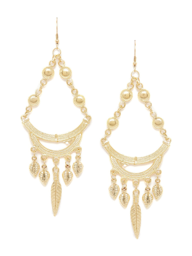 Chandelier Artificial Earrings in Golden Color