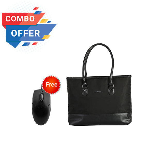 "Kingsons Classy Series 15.6"" ladies bag (Black) KS3128W + AOC MS200 2.4Ghz Wireless Mouse"