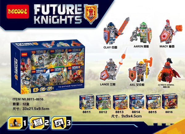 Future Knights x12 -100% Lego Compatible