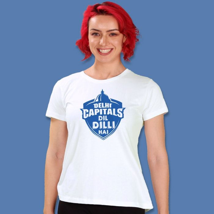 Delhi Capitals T-Shirt For Girls