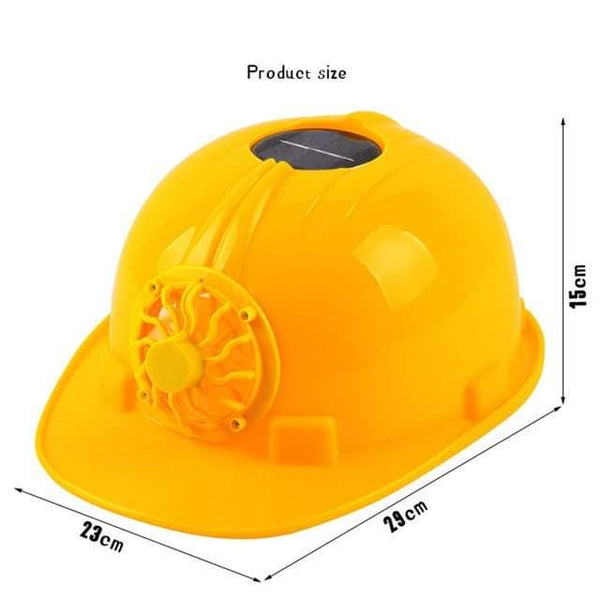 Solar Power Safety Helmet Outdoors Working Hard Hat