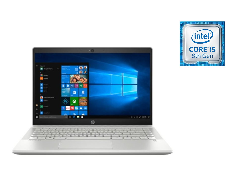 HP Pavilion 14-CE1000NE Laptop - Core i5 1.6GHz 8GB 1TB Shared Win10 14inch FHD Mineral Silver