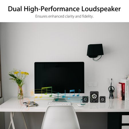 TSV Deskstop Stereo, USB AUX Wired Colorful LED Computer Speakers Stereo Sound Surrounding Super Bass Music For Laptop PC