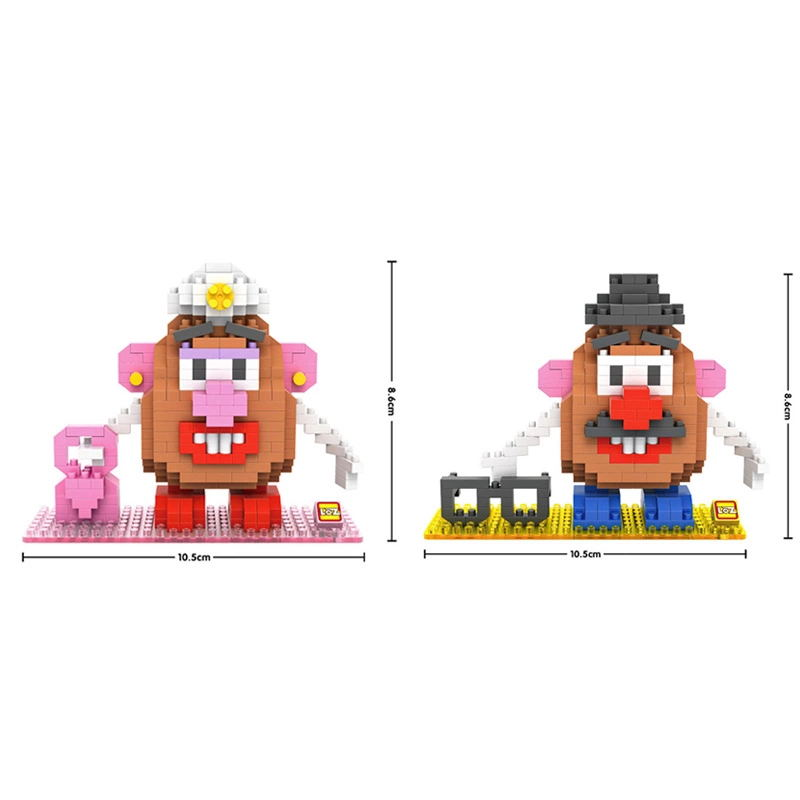educational toys Hot Story Micro diamond building block mr potato head ms figures Pixel nano bricks for children gifts