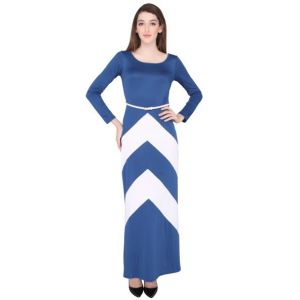 Elliana Blue And White Gown Dress