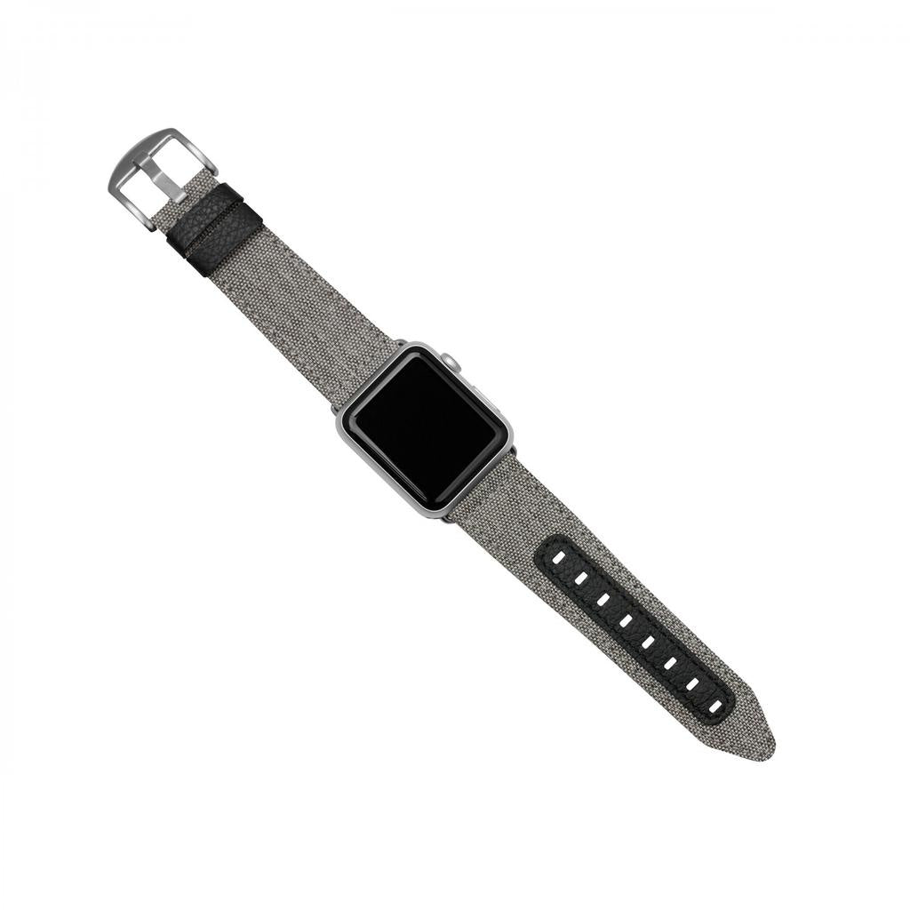 Evutec Northill Apple Watch 42 / 44mm - قماش / أسود