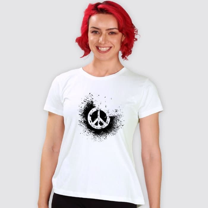 Disintegrated Peace Women'S Printed T Shirts