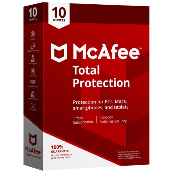 McAfee Total Protection 2018 (1 Year) 10 Devices