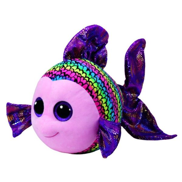 TY Beanie Boos Fish Flippy Multi Color Medium 10in