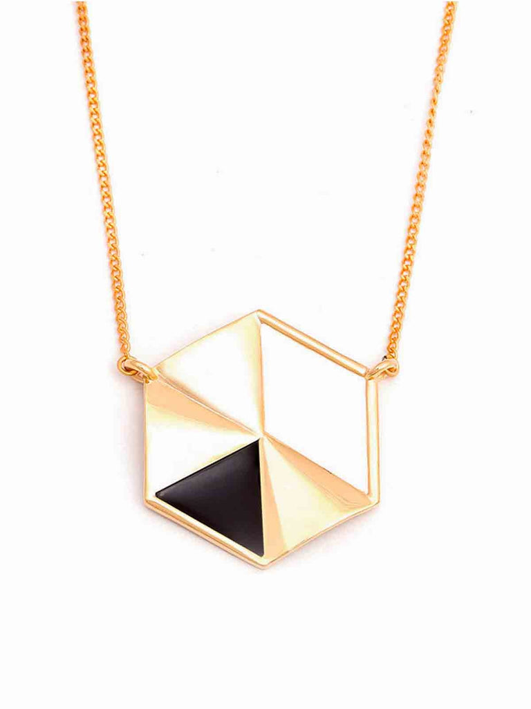 Gold And Black Apex Noir Pendant