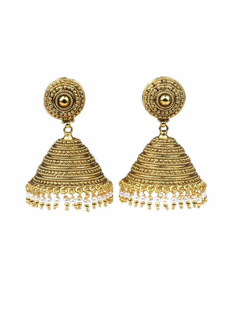 Gold Plated Dome Earrings