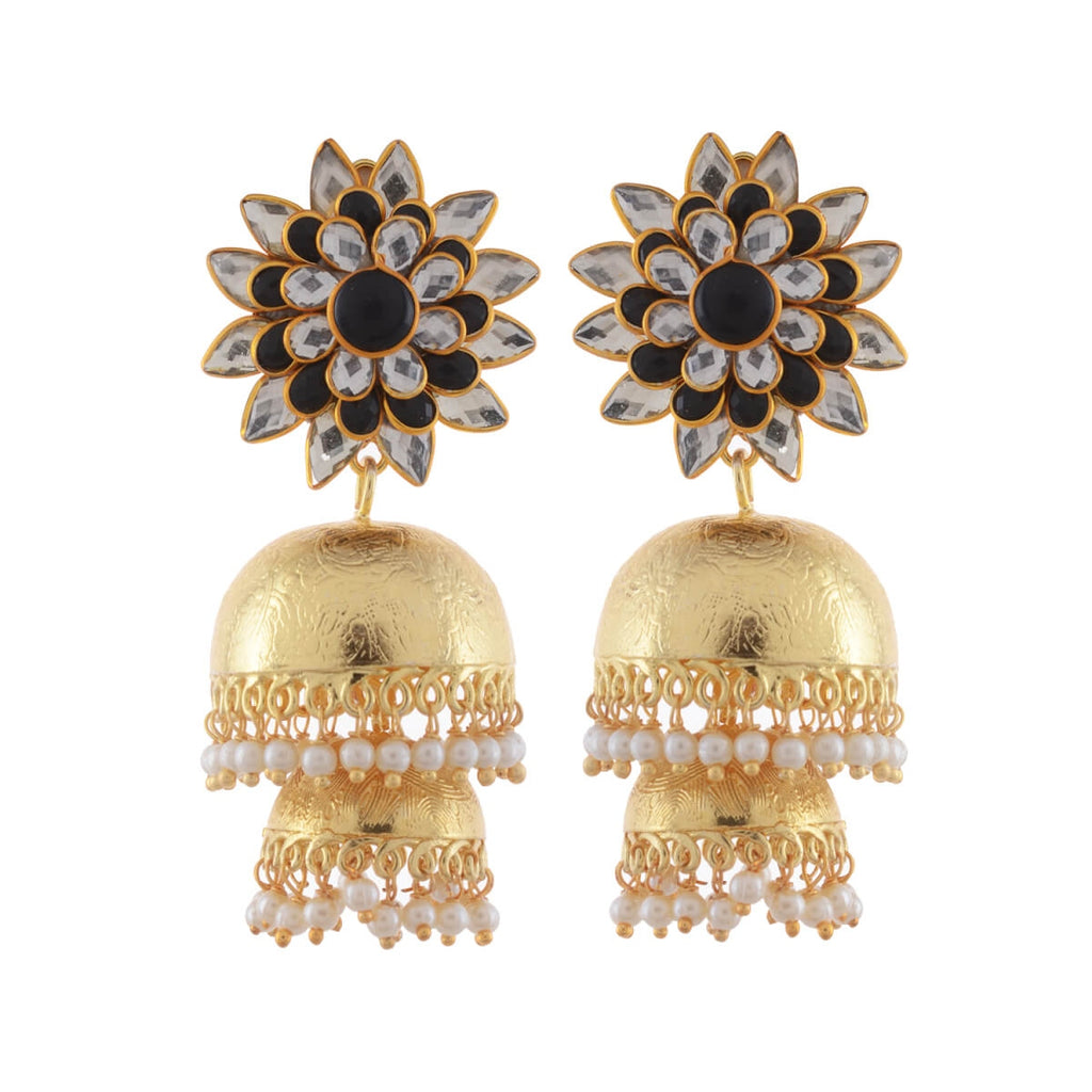 Golden and black stylish jhumkas