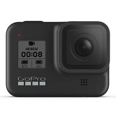 GoPro HERO8 Black -Waterproof Action Camera with Touch Screen 4K Ultra HD Video 12MP Photos 1080p Live Streaming Stabilization