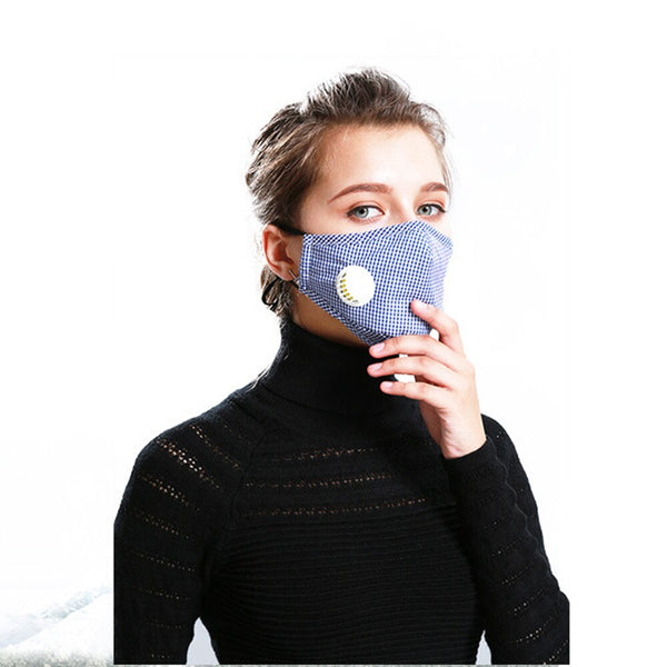 high quality 5 layers PM2.5 Anti Pollution Antiviral N95 Mouth Mask Dust Respirator Washable Reusable Masks Cotton Unisex Mouth