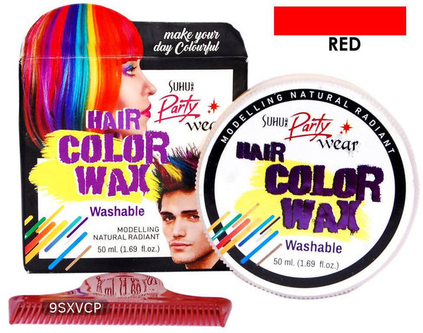 Hair colour wax