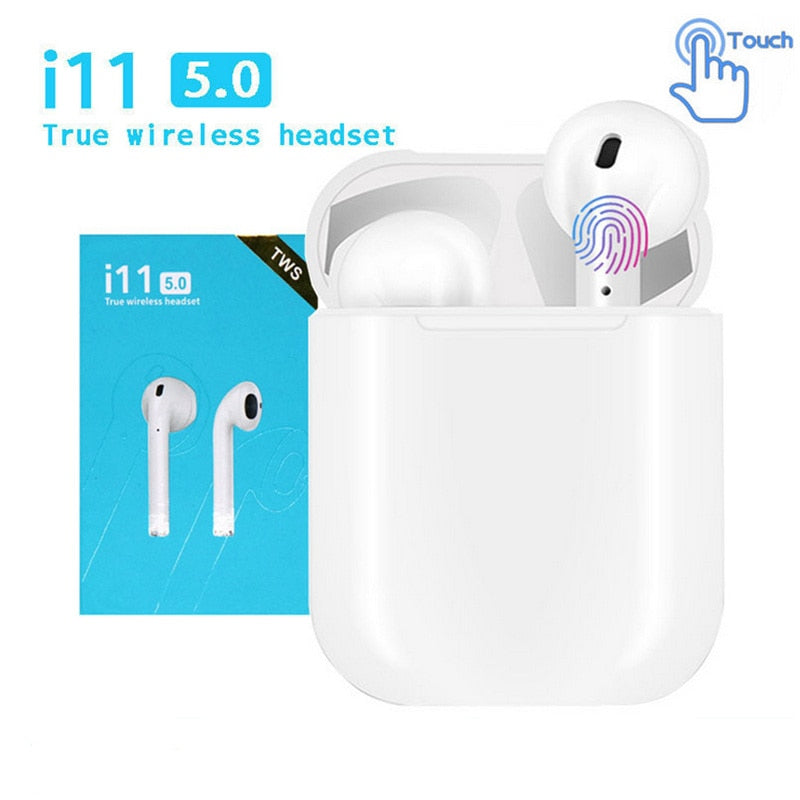 i11 TWS Mini 5.0 Bluetooth Earphone Sports Earbuds Wireless Headphones Portable Invisible Earbud for Xiaomi iPhone Android Phone