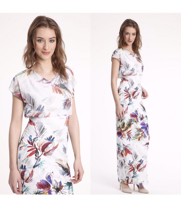 Summer Dress Printed Flower Design