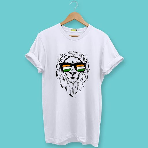 Indian Lion Printed Half Sleeve T-Shirt