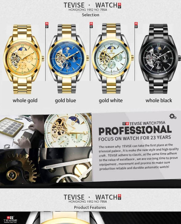 Tevise automatic watches