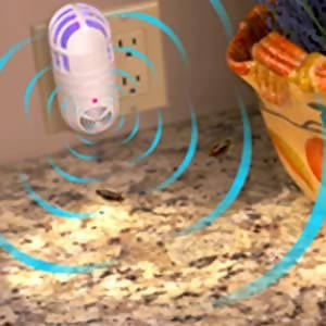 Atomic Zabber 2-in-1 Ultrasonic Pest Repeller & Bug Zapper by BulbHead ، قاتل الحشرات سهل الاستخدام (1 عبوة).