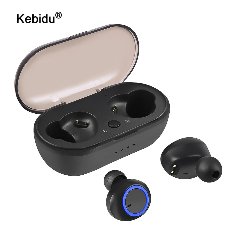 kebidu Wireless Earbuds TWS Bluetooth 5.0 Earphone Stereo Waterproof Sport Earphones for Phone Handsfree Gaming Headset with Mic
