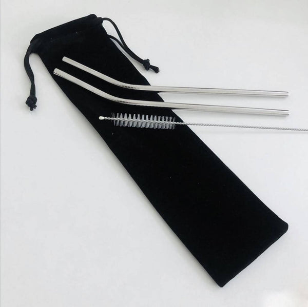 Stainless-Steel straws (Two-pack)