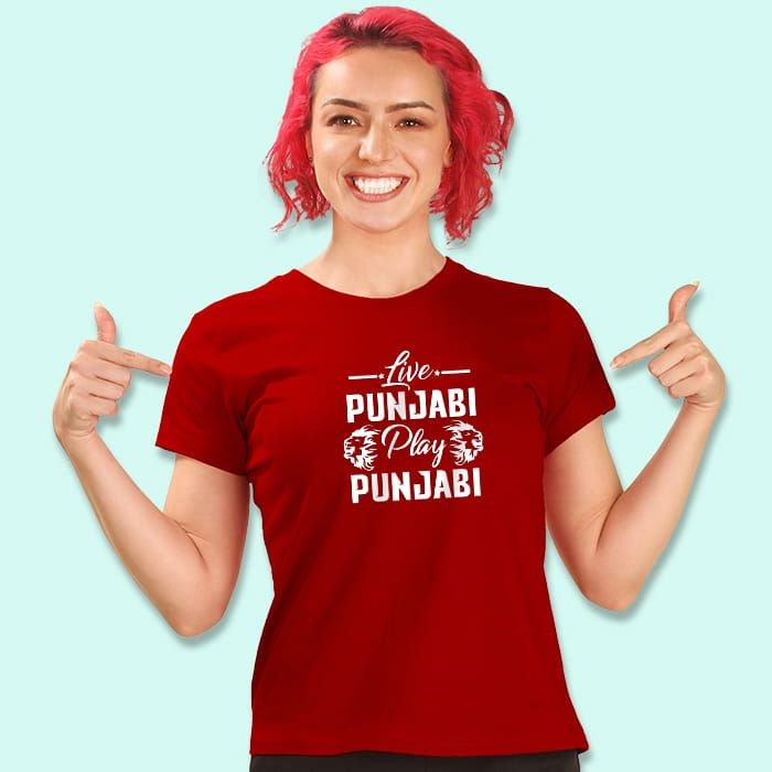 Live Punjabi T-Shirt For Girls
