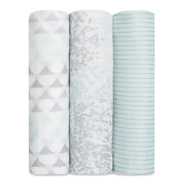 Aden+Anais - Metallic Skylight Birch 3-Pack Silky Soft Swaddles