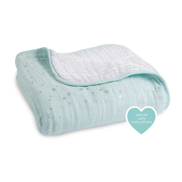 Aden And Anais Dream Blanket - Mettallic Skylight