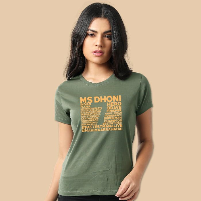 Ms Dhoni T-Shirts For Girls