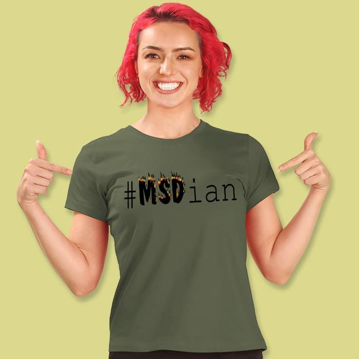 Msdian Women'S Printed Half Sleeve T-Shirt