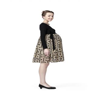 Radiation Safe-House of Napius-Black & Beige - 'I' print M dress