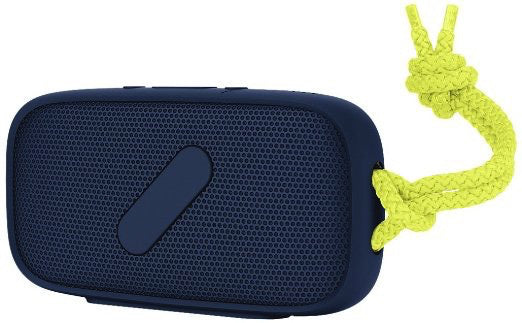 NudeAudio Super-M Portable Wireless Bluetooth Speaker- Navy & Lime