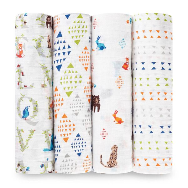 Aden+Anais - Paper Tales 4-Pack Classic Swaddles