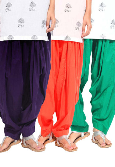 Women's Multi Colors Patiala Bottoms Pk-3