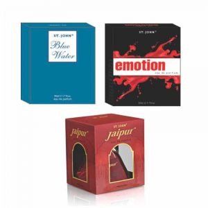 Vi-John EMOTIONS & BLUE WATER & NEW JAIPUR EDP 50ml Each with Free Vial