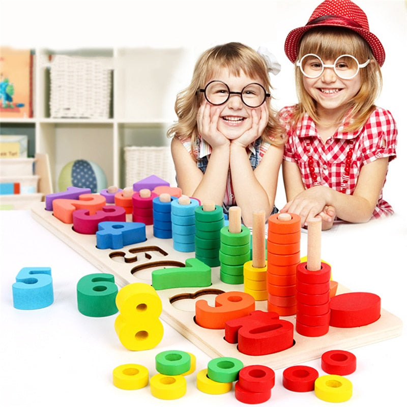 Wooden Montessori Materials Learning Count