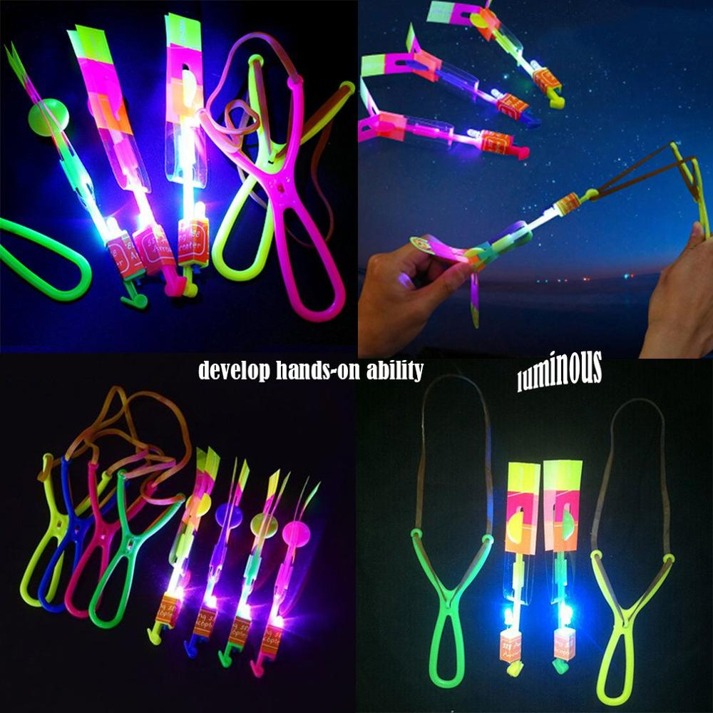 Luminous Slingshot LED Light Catapult Arrows Flying Toys