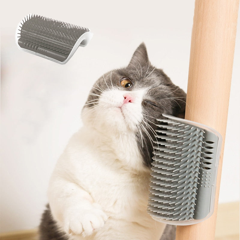 Pet cat self beauty beauty hair removal grooming comb cat hair trimming hair cat massager with catnip