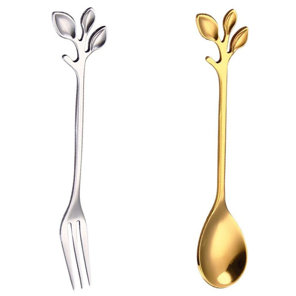 Creative Branch Leaves Dessert Spoon