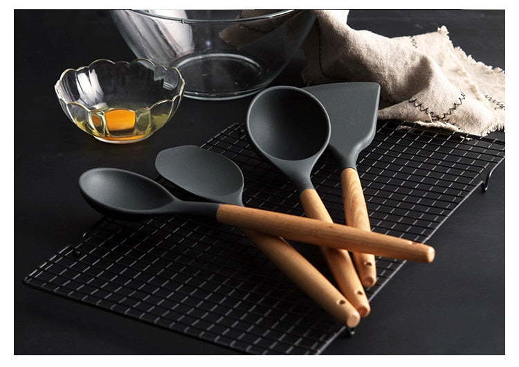 Silicone Kitchen Tools Cooking Sets Soup Spoon
